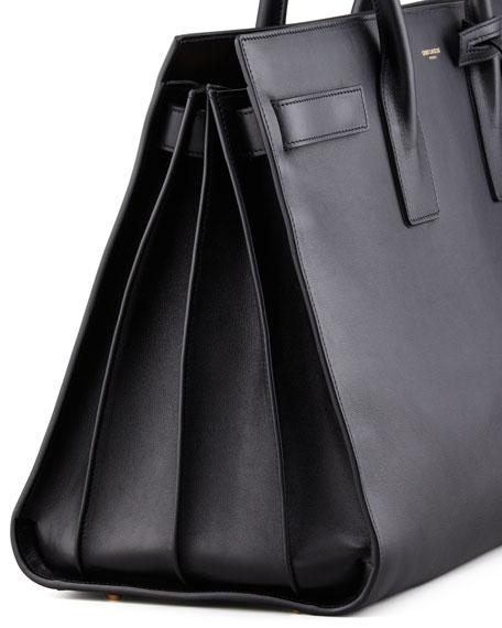 Classic Sac De Jour Leather Satchel Bag