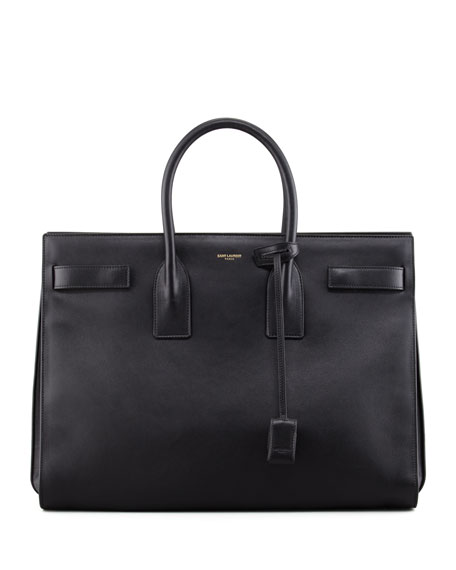 Classic Sac De Jour Leather Satchel Bag