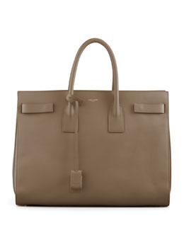 Classic Sac De Jour Leather Tote Bag, Beige