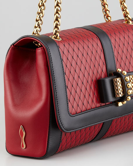 Sweet Charity Quilted Shoulder Bag, Red