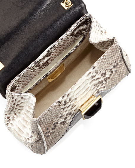 Itty Bitty Trinity Shoulder Bag, Gray/White/Black