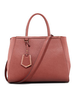 Fendi 2Jours Saffiano Medium Tote Bag, Pottery