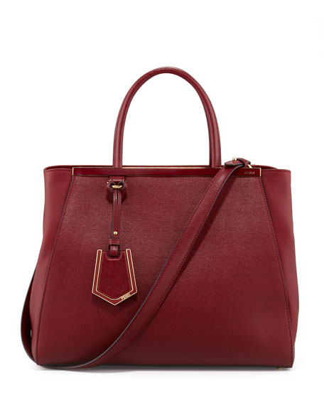 2Jours Medium Tote Bag, Scarlet