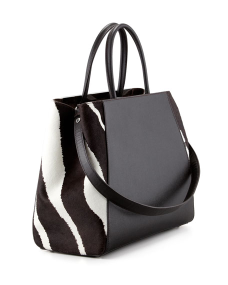 2Jours Animal Print Tote Bag, Zebra