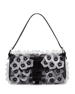 Fendi Jelly-Flower Applique Baguette