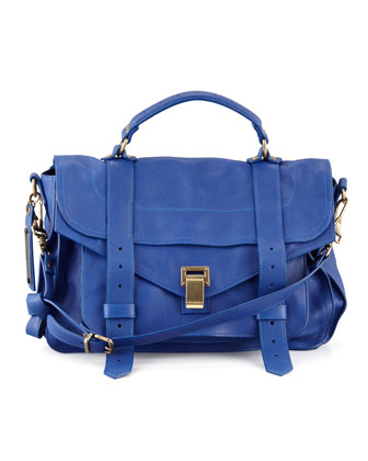 PS1 Medium Satchel Bag, Royal Blue