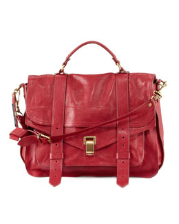Proenza Schouler PS1 Large Satchel Bag, Red