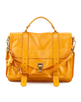 Proenza Schouler PS1 Large Satchel Bag, Krisna Yellow