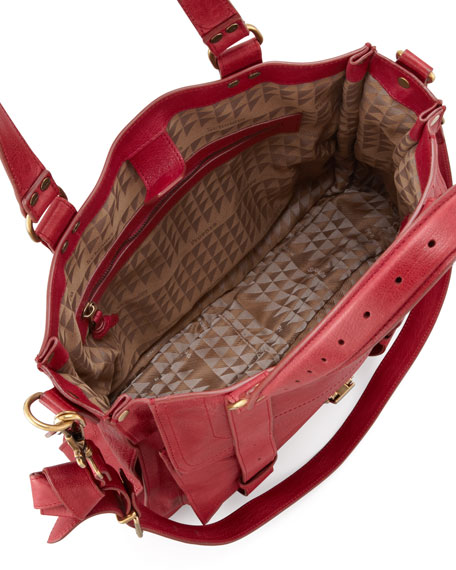PS1 Leather Tote Bag, Red