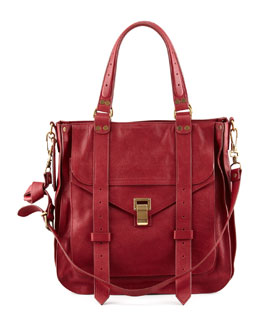 Proenza Schouler PS1 Small Leather Tote Bag, Red
