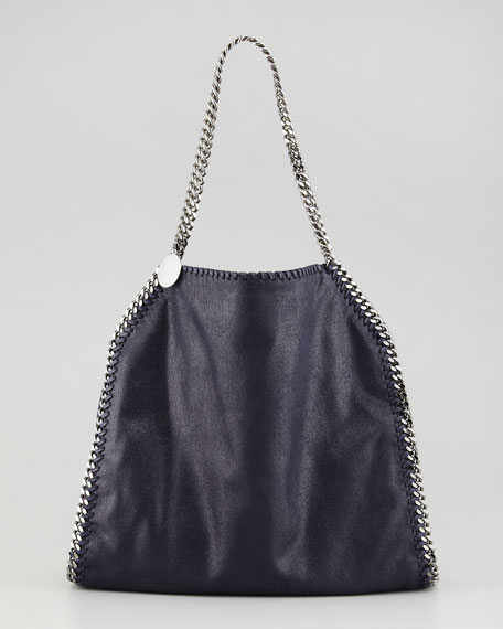 Falabella Small Tote Bag, Navy