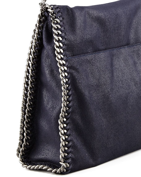 Falabella Flap Shoulder Bag, Navy