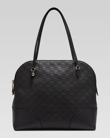 Bree Guccissima Leather Top Handle Bag, Black