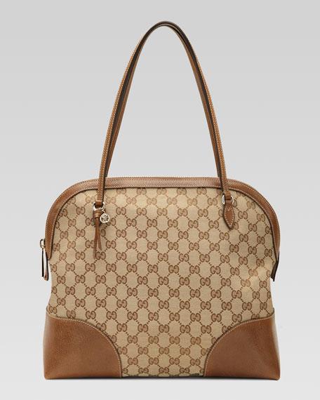 Bree Original GG Canvas Top Handle Bag, Brown