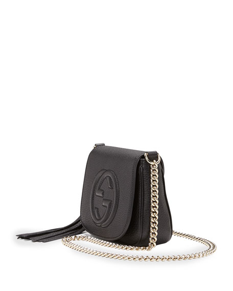 8f22635cb38 Gucci Soho Leather Chain Crossbody Bag