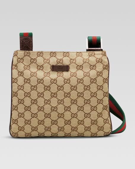 6624844d28a Gucci Original GG Canvas Messenger Bag with Signature Web Strap