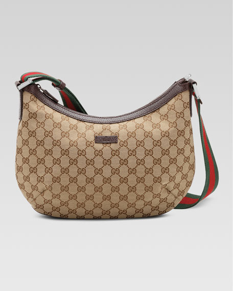 Gucci Original GG Dipped Canvas Messenger Bag with ...