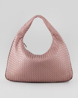 Bottega Veneta Intrecciato Woven Large Hobo Bag, Mauve