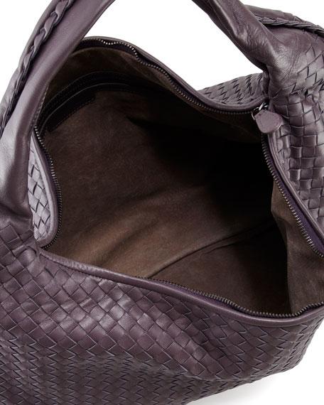 Intrecciato Maxi Hobo Bag, Purple