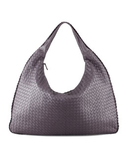 Bottega Veneta Intrecciato Maxi Hobo Bag, Purple