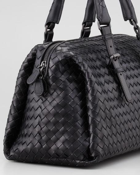 New Boston Medium Top-Handle Bag, Black