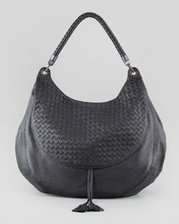 Bottega Veneta Cervo Maxi Shoulder Bag, Black