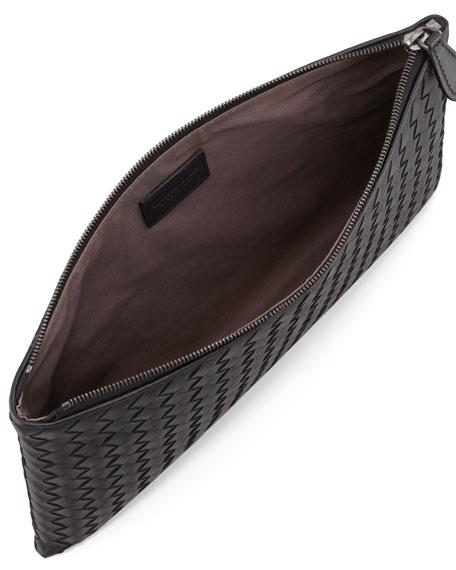 Extra Large Flat Cosmetics Bag, Black