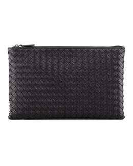 Extra Large Flat Cosmetic Bag, Black