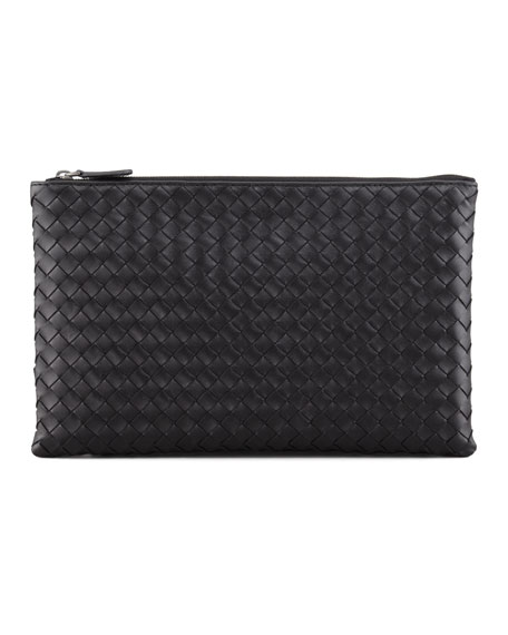 Bottega Veneta Extra Large Flat Cosmetics Bag, Black