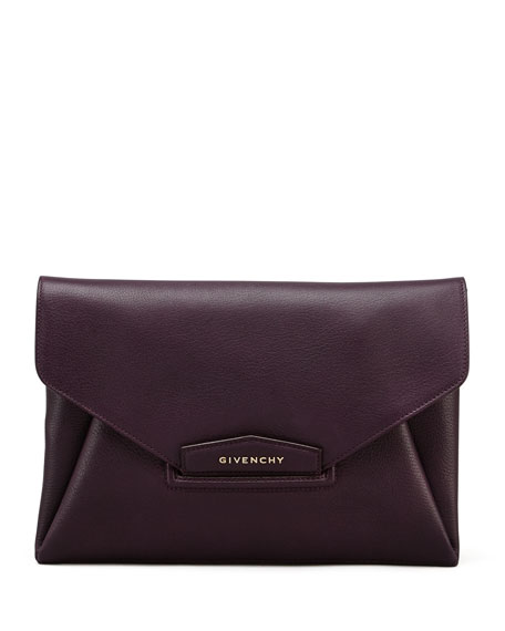 Antigona Envelope Clutch Bag, Purple