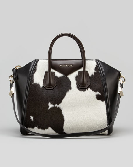 Antigona Medium Cow-Print Calf Hair Satchel