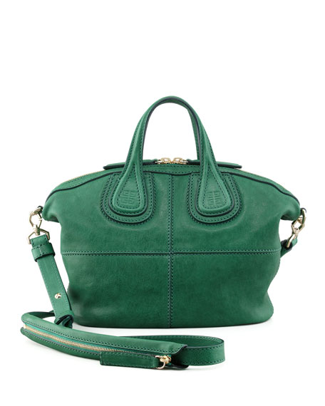 Nightingale Zanzi Micro Satchel Bag, Emerald Green