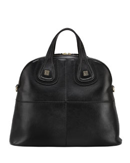 Givenchy Nightingale Palma Medium Structured Satchel Bag, Black