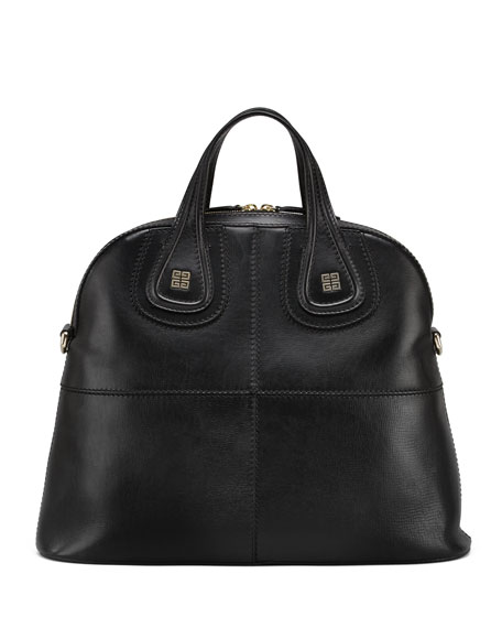 Nightingale Palma Medium Structured Satchel Bag, Black