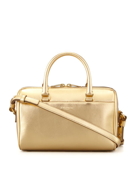 Classic Metallic Duffel 3 Bag, Golden