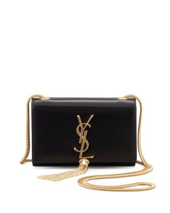 Cassandre Small Tassel Crossbody Bag, Black