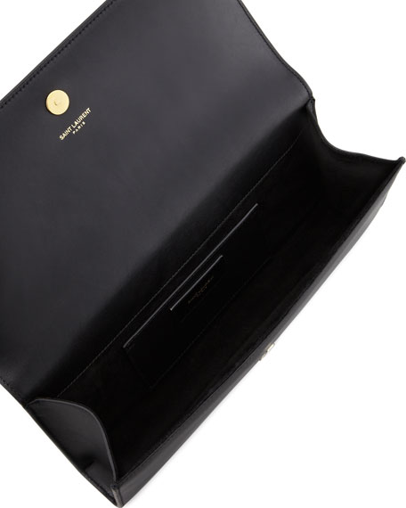 Cassandre Clutch Bag, Black