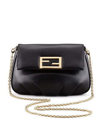 Fendista Pochette Crossbody Bag, Black