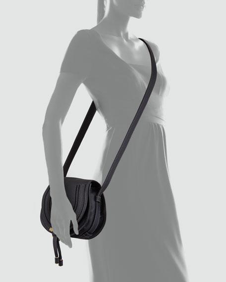 Marcie Small Leather Crossbody Bag, Black