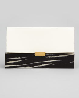 Stella McCartney Faux-Napa & Wood Clutch Bag