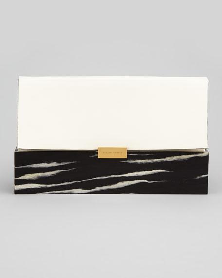 Faux-Napa & Wood Clutch Bag