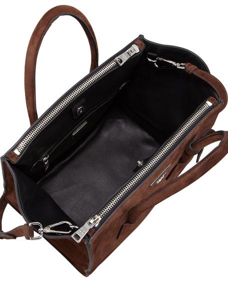 Prada Suede Twin Pocket Tote Bag, Brown (Morgano)