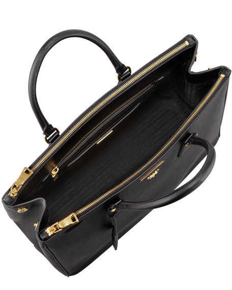 847fcbe3c6a4c6 Prada Saffiano Large Executive Tote Bag, Black (Nero)