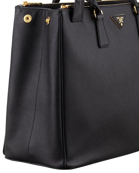 Saffiano Large Executive Tote Bag, Black (Nero)