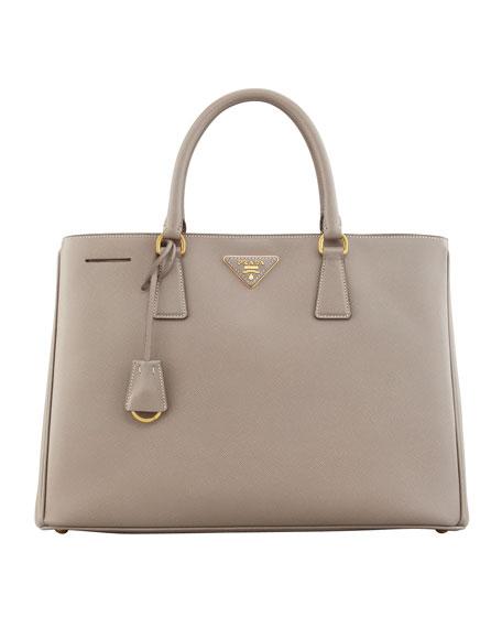 Saffiano Gardener's Tote Bag, Gray (Argilla)