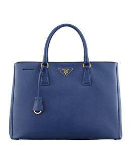 Saffiano Gardener's Tote Bag, Blue (Bluette)