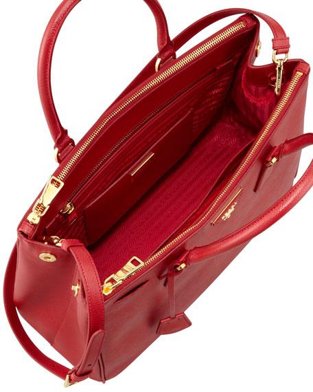 df3cac629284 Prada Saffiano Double-Zip Executive Tote Bag