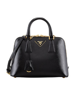Small Saffiano Promenade Bag, Black (Nero)