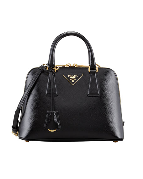 prada small saffiano promenade bag black nero