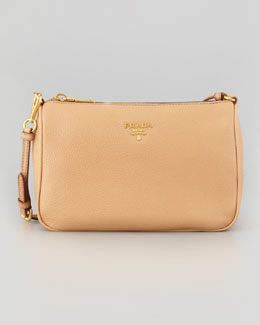 Prada Daino Small Shoulder Bag, Beige